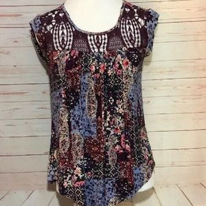 Maurice's Floral & Paisley Top | XS